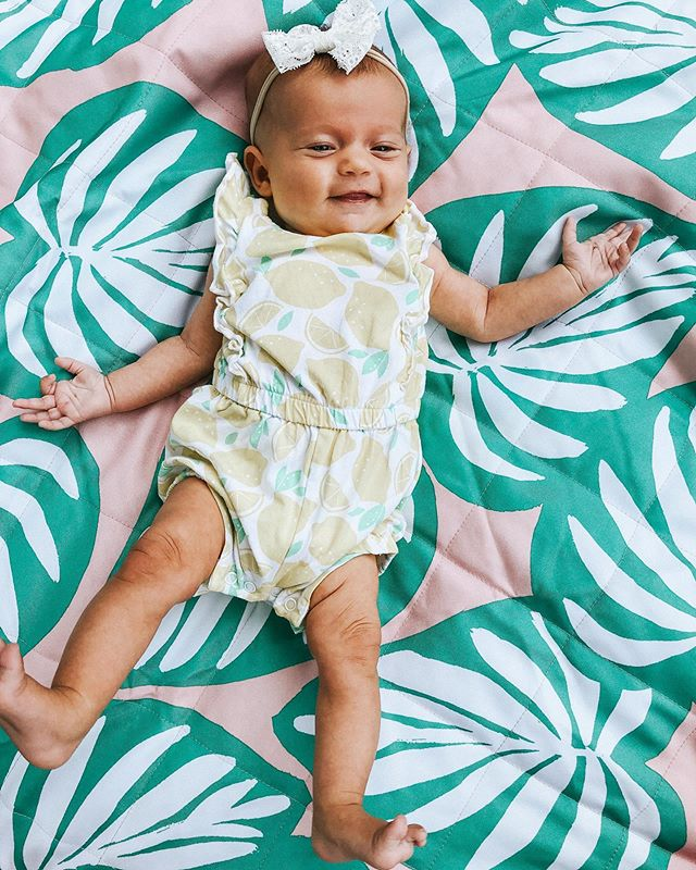 💕T H R E E • M O N T H S 💕 with the smiliest little babe! This girl y'all, she has our heart! She is the happiest, most content baby as long as you are in her eye sight😉! She's a good sleeper, a good eater, and loves when her big bro is giving her all the attention! Grays new favorite thing is to hold Rosie and he is sooo proud when he does it and leans in to give her all the kisses   see the last pic for all that cuteness😍💕 #heartexplosion #themanysmilesofRosie #doesntgetanycuter #3monthsold #wortheverytiredwrinkle #letthehairsheddingbeginAGAIN🤪