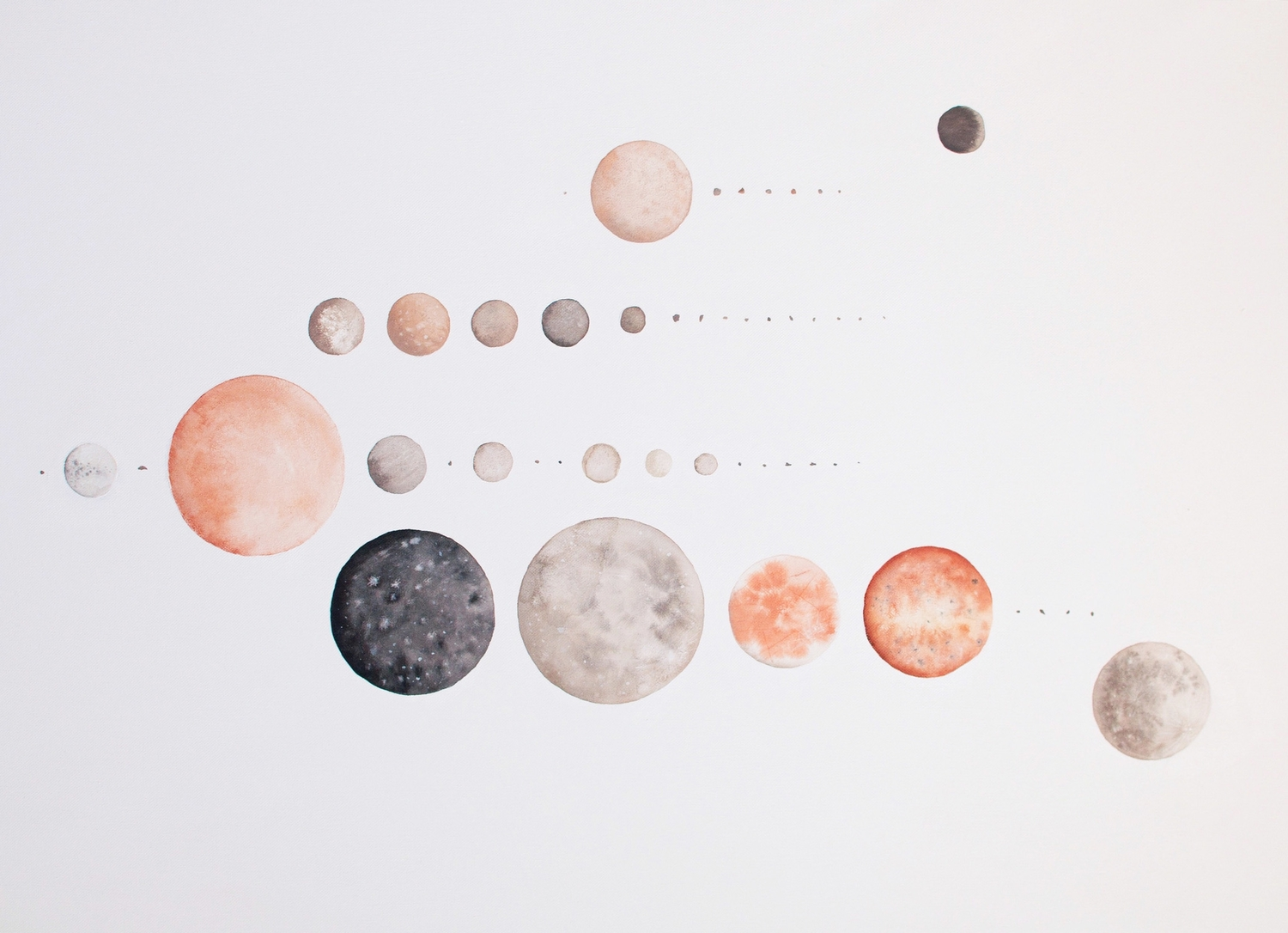"""""""All the Moons of our Solar System"""" -  Stella Maria Baer"""