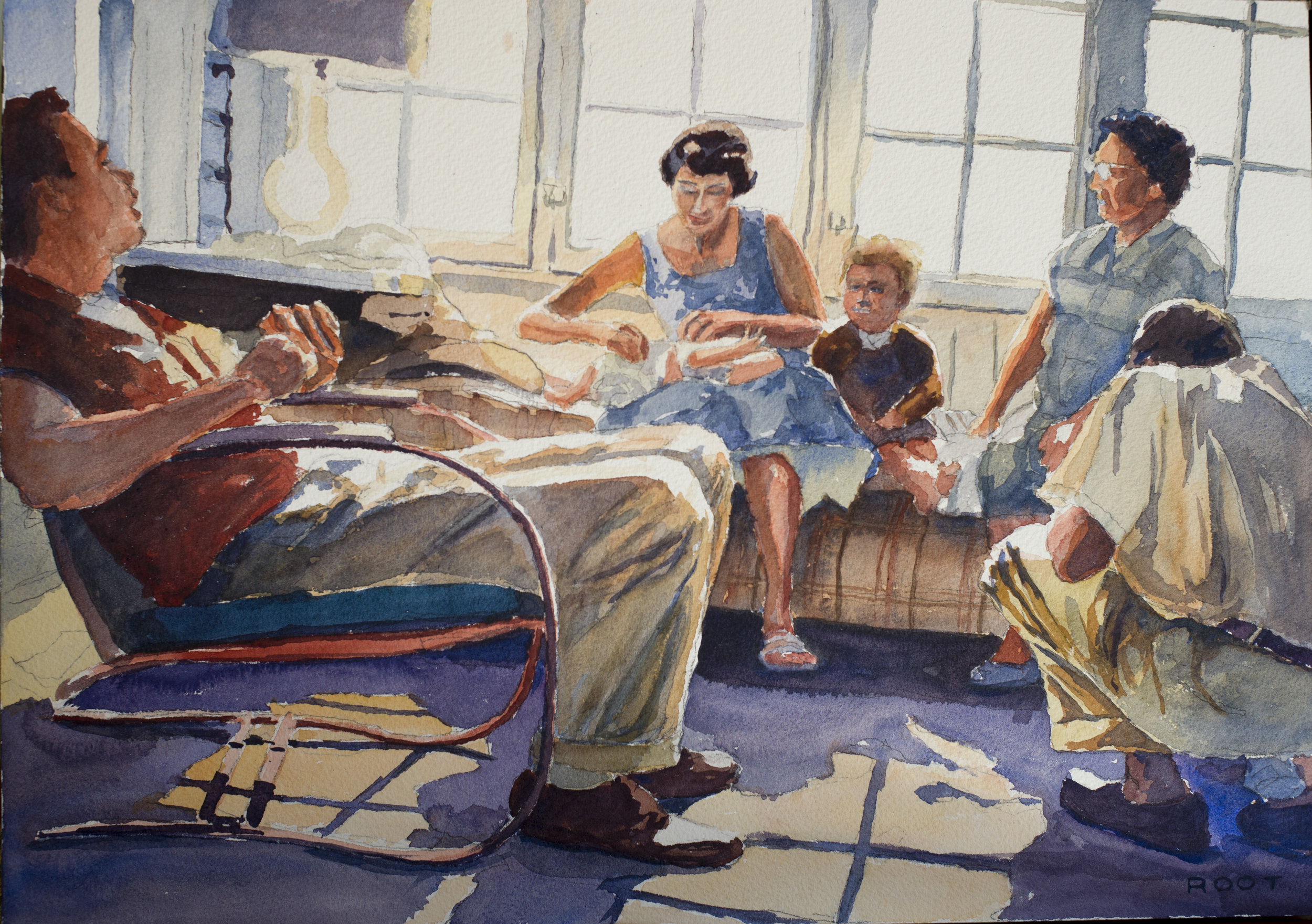 """Redbrook Front Porch, 1957"""