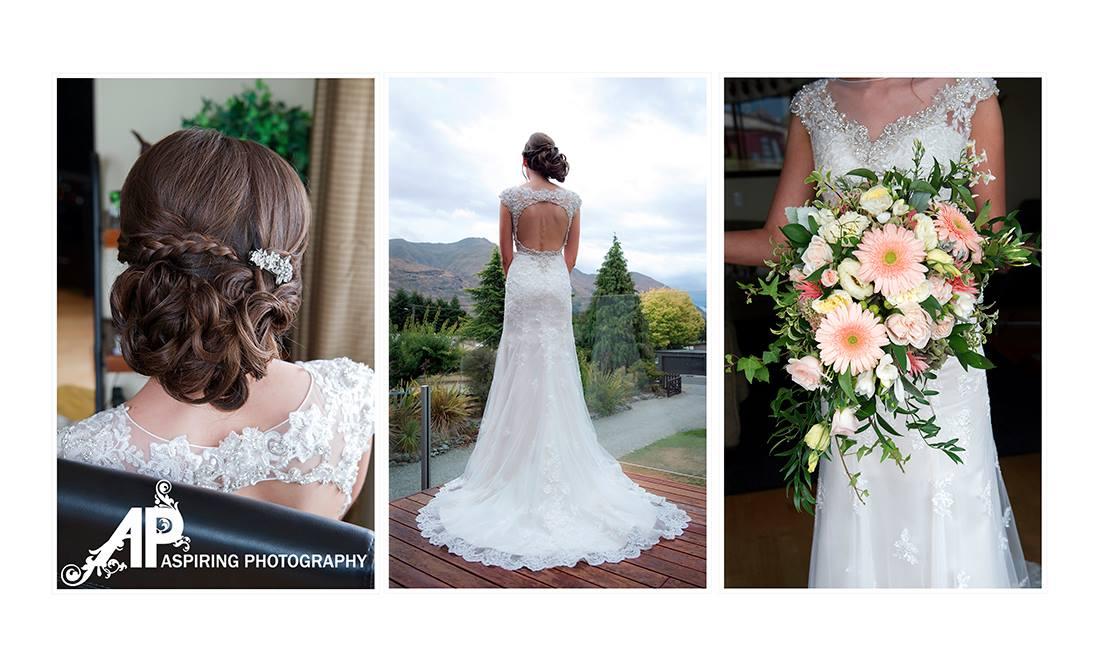 Side hair style | Kelsi's Wanaka Wedding | Wanaka Wedding Hair and Make-up | www.roadtobeauty.co.nz