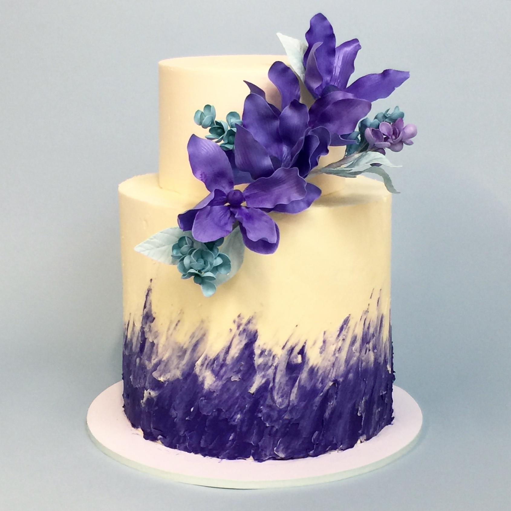 Purple Painted Buttercream