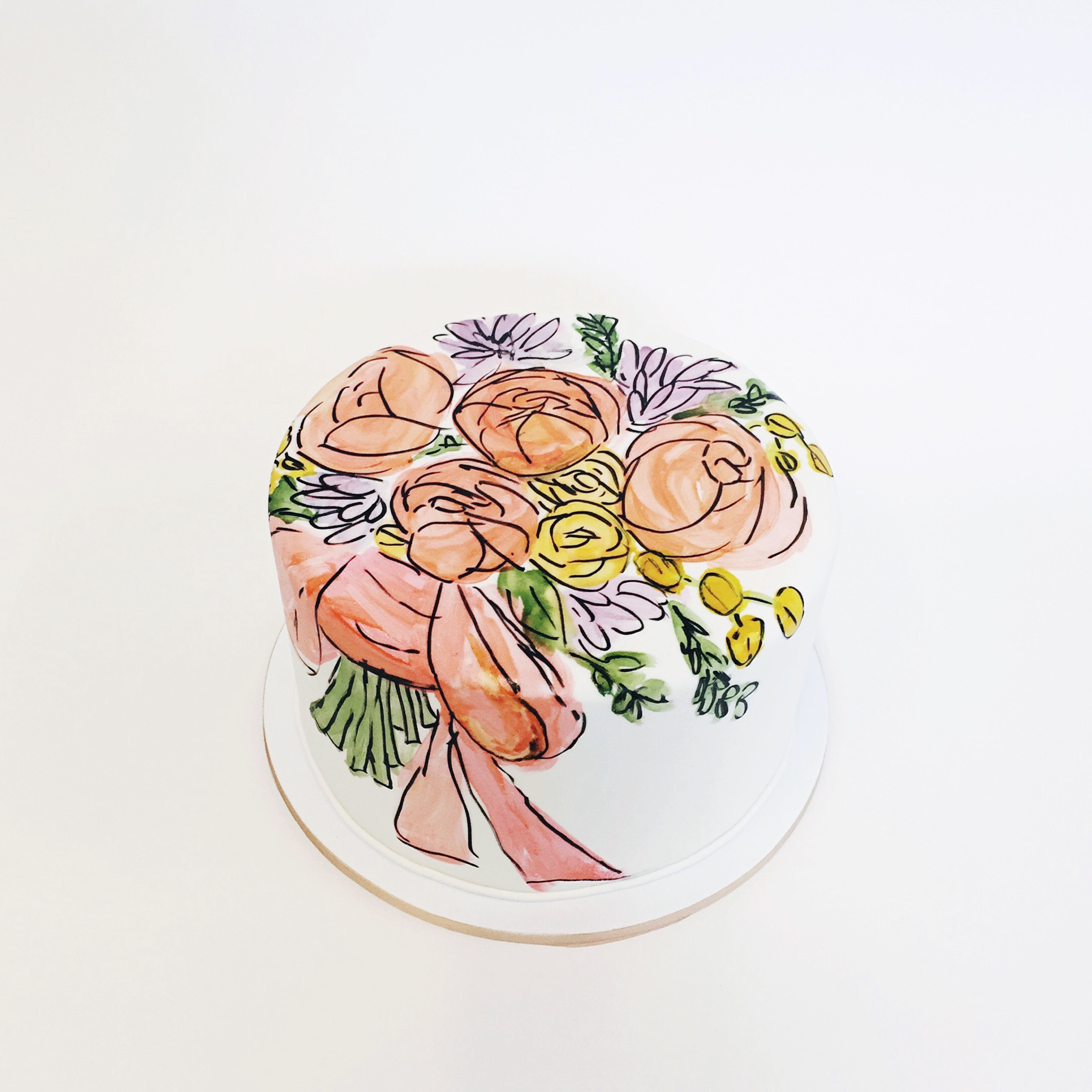Hand Painted Bouquet