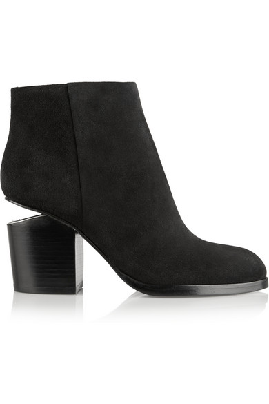 Alexander Wang | Gabi cutout suede ankle boots