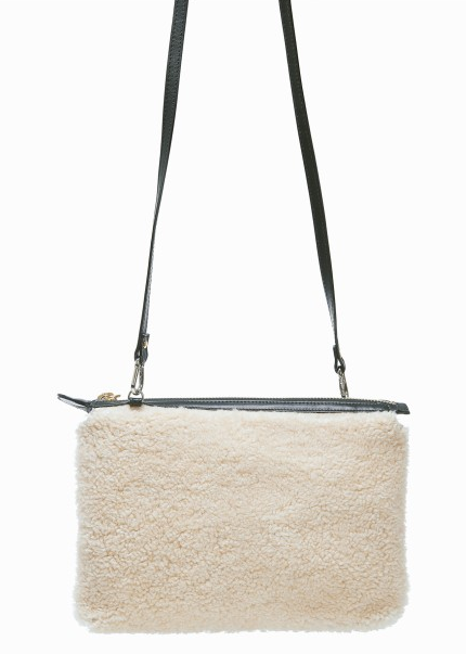 Little Liffner | Shearling Mini Pouch Bag