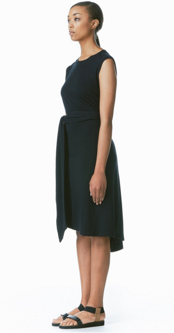 Shelby Steiner | Black Bamboo Tie Dress