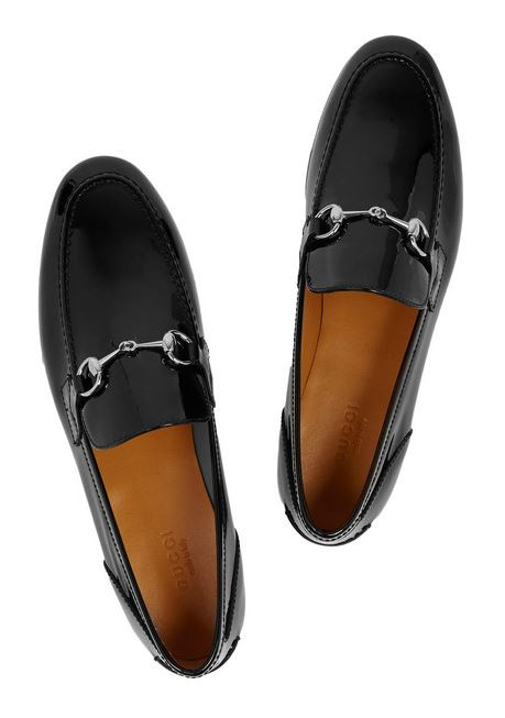 Gucci | New Power horsebit-detailed patent-leather loafers