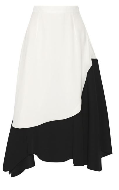 Toga crepe de chine skirt