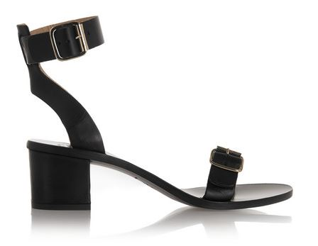 ATP Atelier black Carmen leather sandals