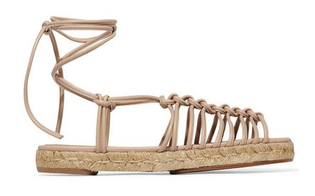 Chloe knotted leathere spadrilles