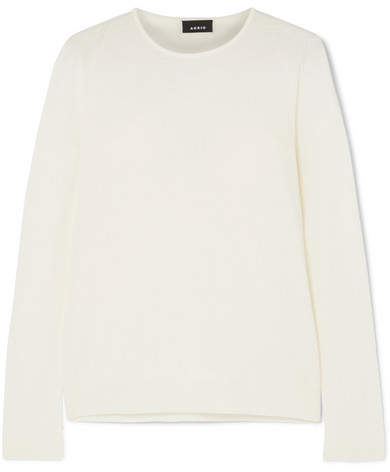 white cashmere sweater akris