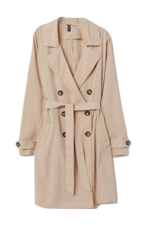 h&m lightweight trench