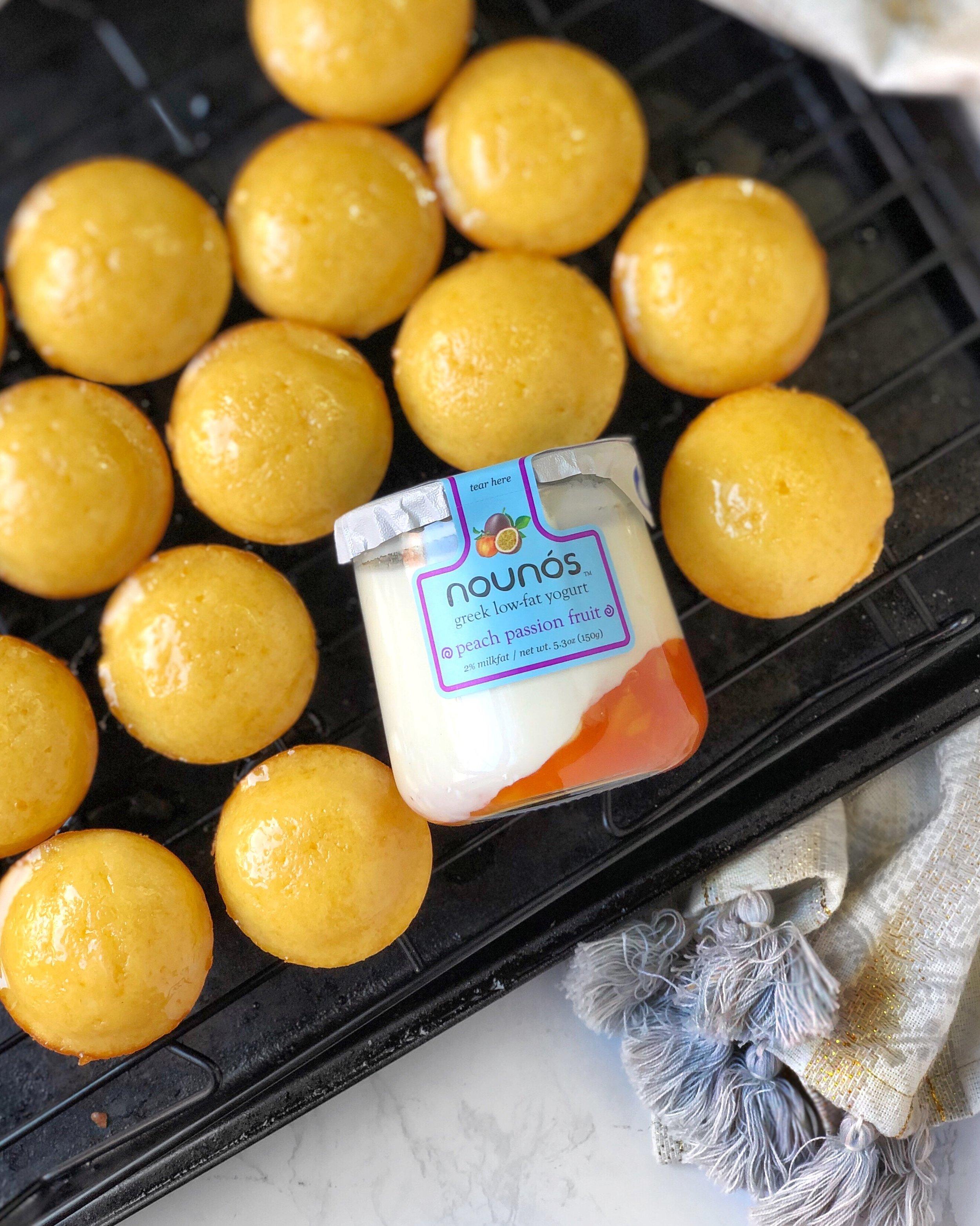 Peach Passionfruit Greek Yogurt Muffin Recipe