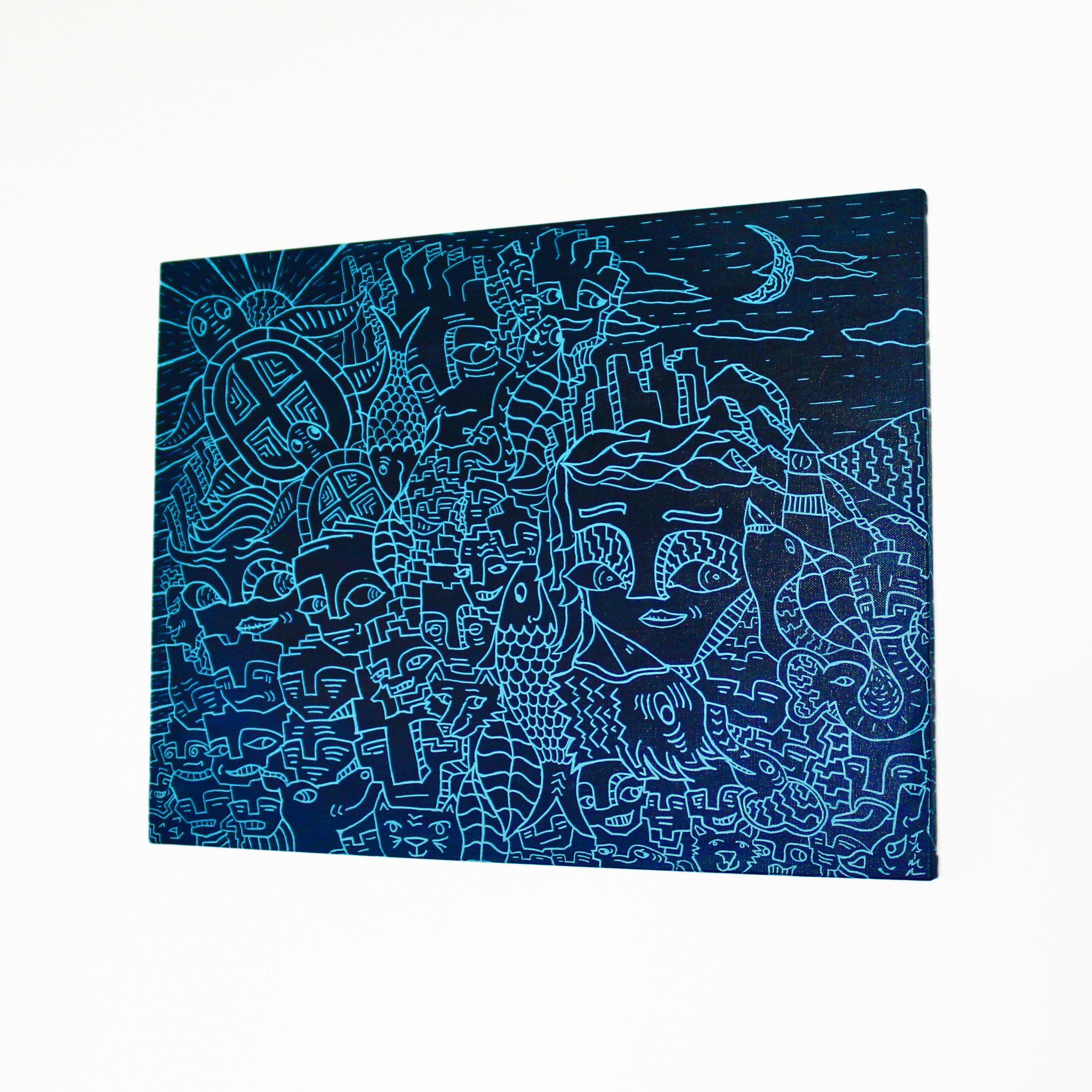 "Blue Moon 24""x 18"""