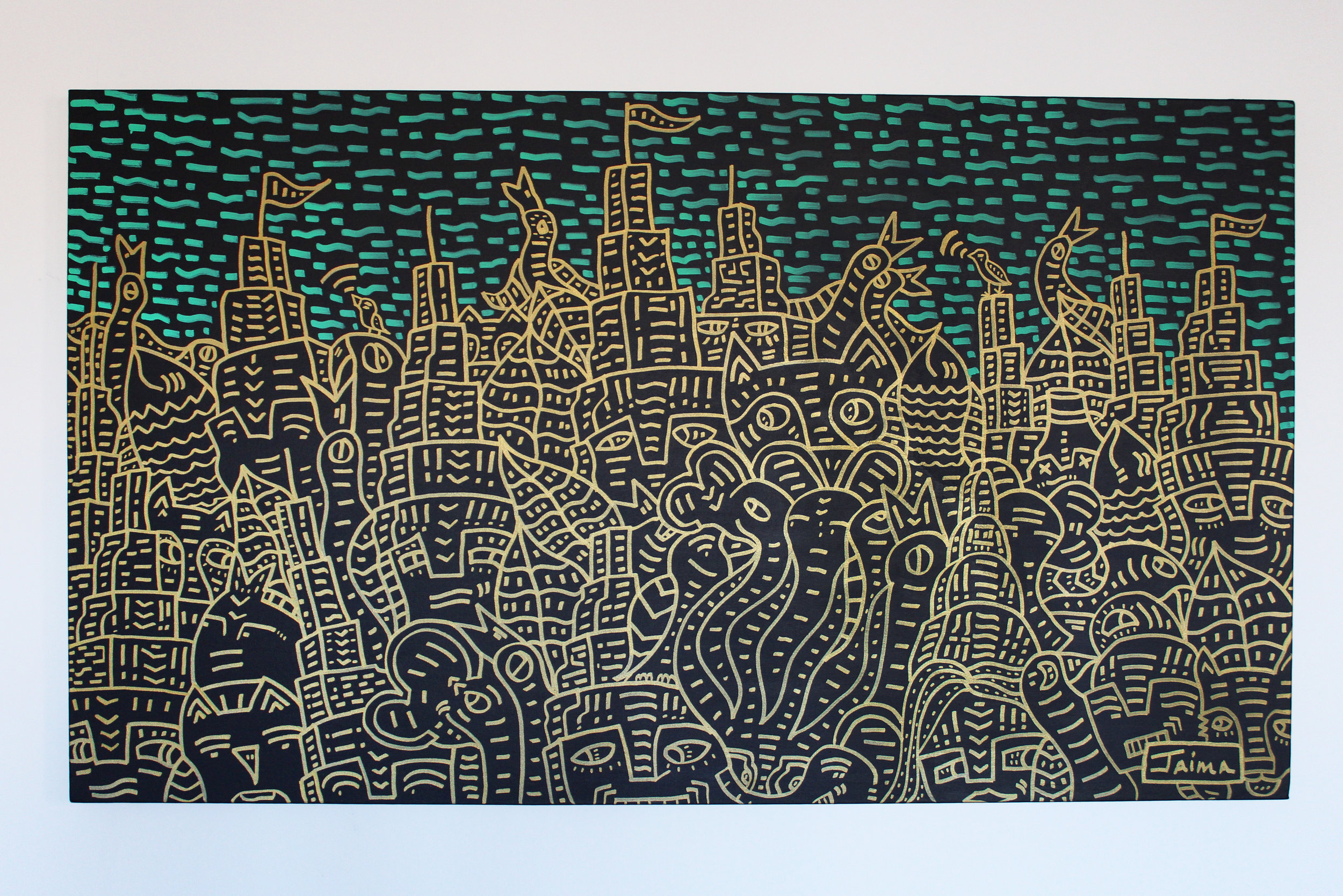 Animal City Skyline 3'x5'