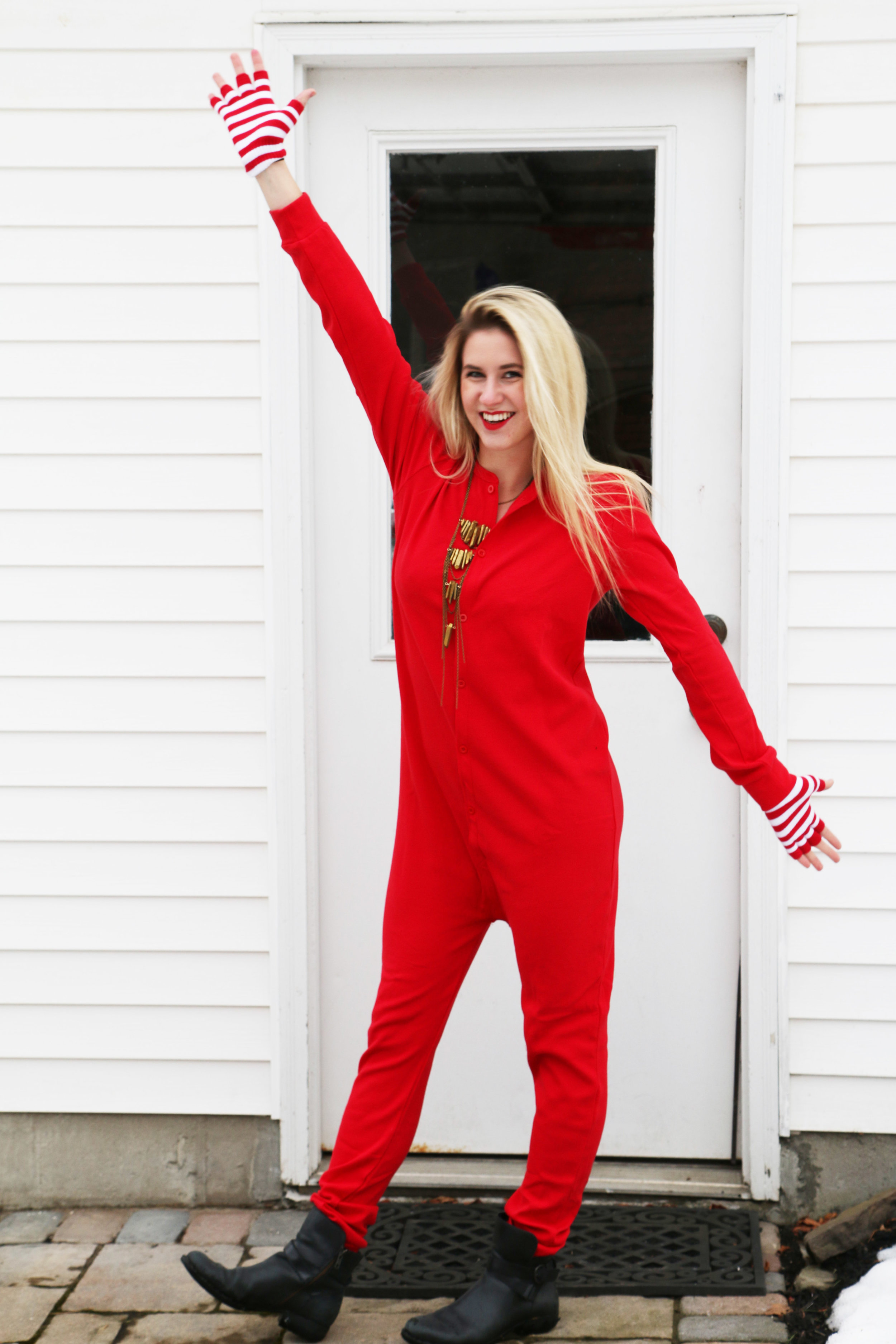 Sporting an Adult Onesie &  The Santa Fe Stacker