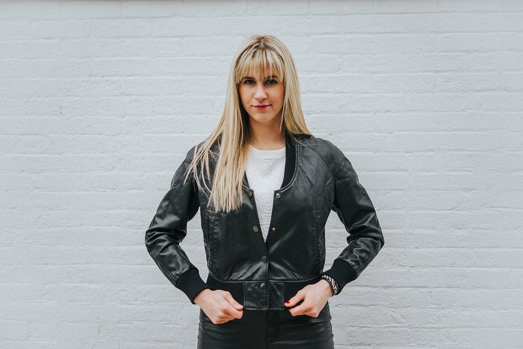 Leather Bomber from Neiman Marcus- similar style via  BB Dakota