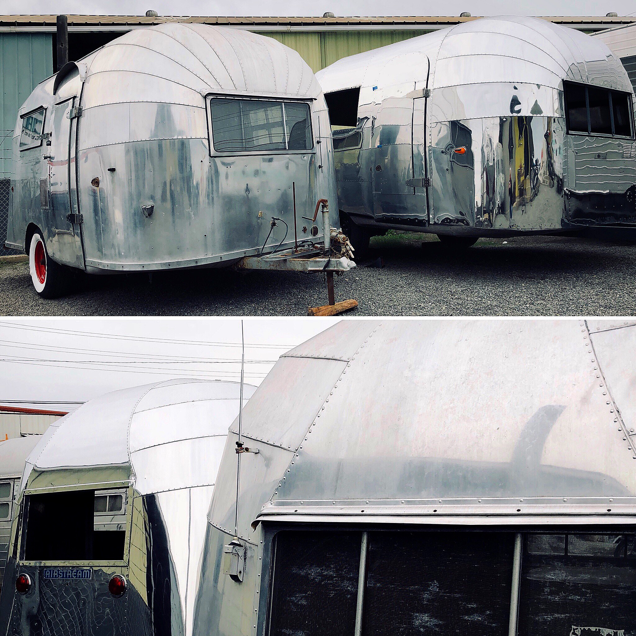 1956 Airstream Bubble Whaletail  - Rare, serial #346 from Airstream's California factory. Straight body and frame, 16'. For sale only as a So Cal restoration.
