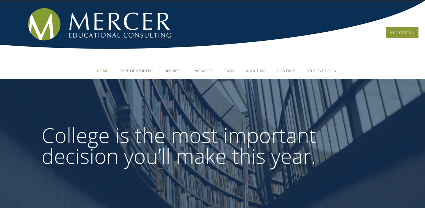 Redesign of Mercereducationalconsulting.com
