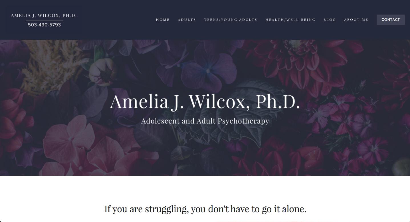 Building Ameliajwilcoxphd.com