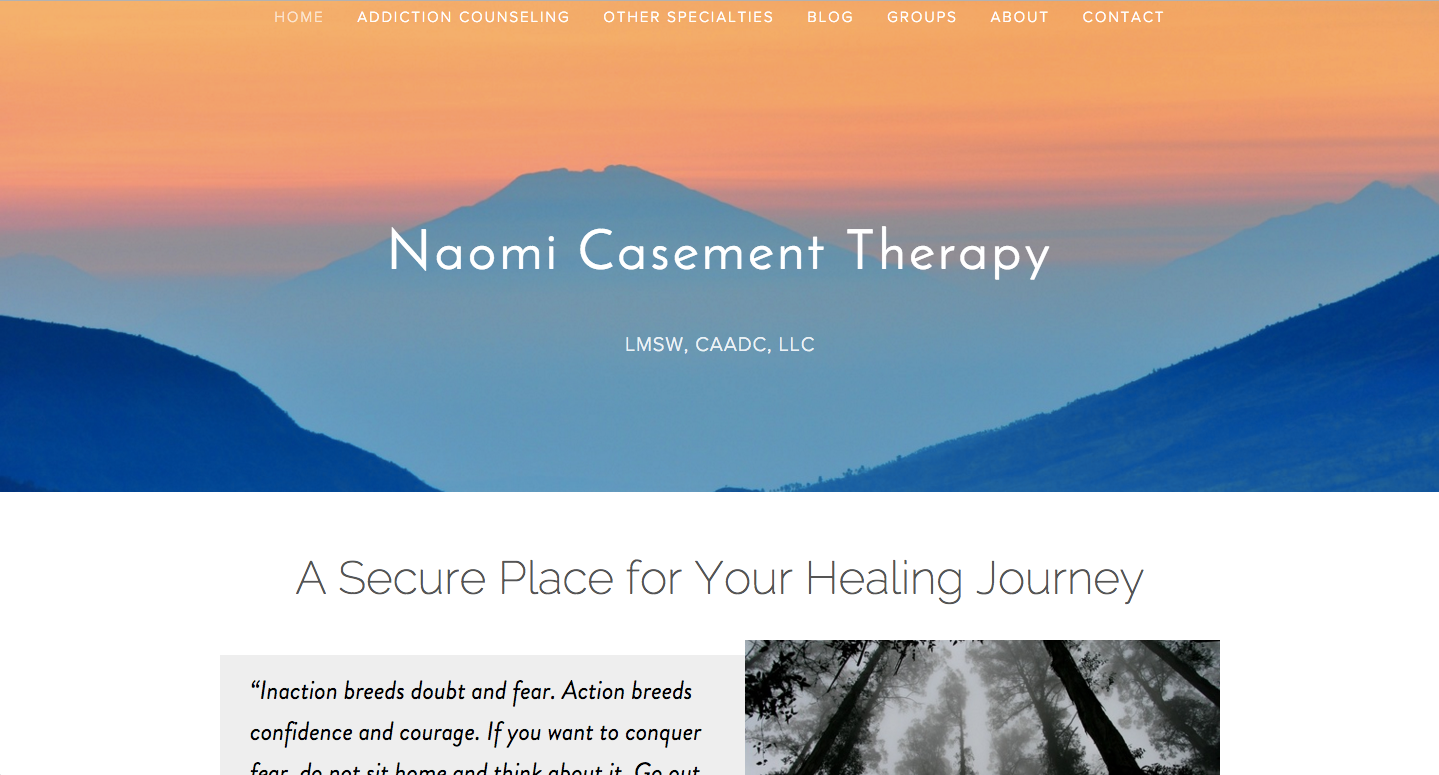 Building Naomicasementtherapy.com