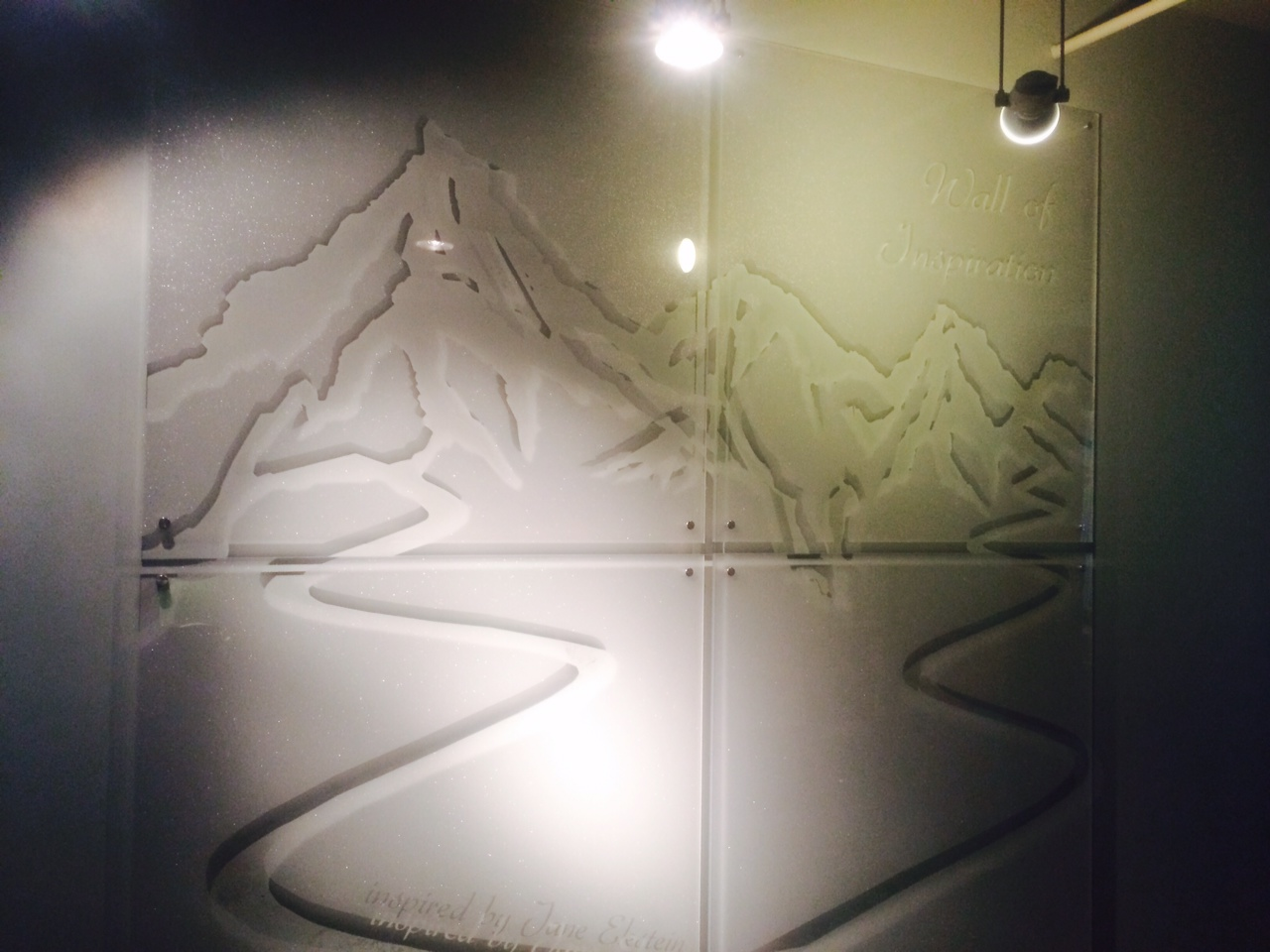 Telluride Adaptive Sports Wall of Inspiration, Frosted Glass