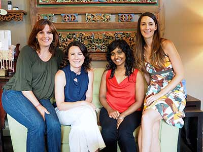 The acupuncturist and Chinese medicine practitioners at San Vida in Marble Falls know they are sometimes the 'last resort' for people. They are owner  Patti McCormick  (left),  Elise Lange ,  Sita Chokkalingham  and  Tricia   Mercer . Go to sanavida.info for more about the service and other programs.  Staff photo by Daniel Clifton