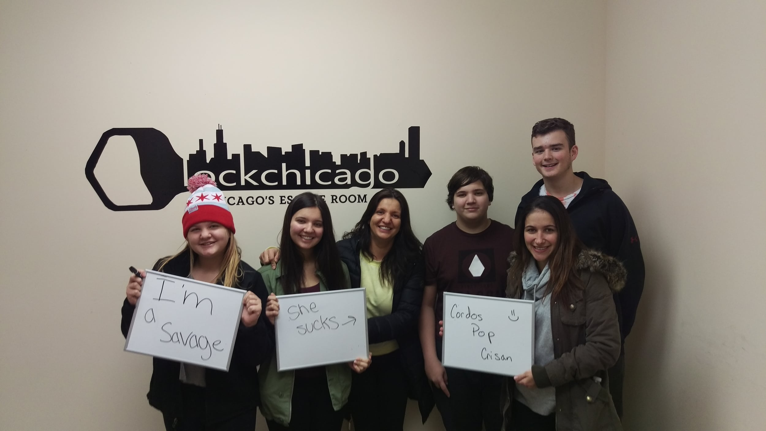 Thanks for weathering the cold to come try out the Sunburn escape room at Lock Chicago! We hope you all had a blast!