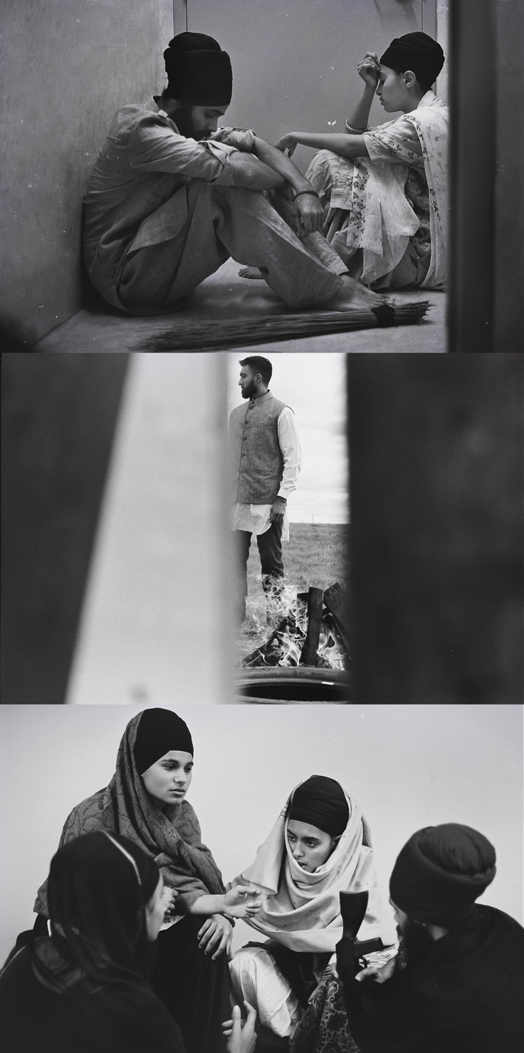 (shot in 35mm by  baljit singh + rupi kaur   | words by rupi kaur)   ' rooh ' - a photo essay exploring the stories of individuals before, during, and after the 1984 sikh genocide.  their neighbor had heard the mobs coming. ran into their home and brought them into the safety of his own. sister and brother sit hiding now. the streets are destroyed. their people are murdered. waheguru. waheguru. waheguru. they pray.  silence. so they crack open the door just a bit. peek out. and they see him. walking amidst the dead bodies. a smug look on his face. it is the politician their parents voted for. how is he here. why is he not protecting the people of this city. instead he's giving each member of the mob a 100 rupees and a bottle of liquor. telling them good job. then gets back in his government car and drives away.  what do you do when your country has failed you. when the killings were not random. when they were systematic. strategized. when the bodies piled up in the city streets and they didn't take responsibility. cause it is a genocide carried out from the top. from the institutions meant to protect you. what do you do when the police stand around and watch. when the government supplies the weapons. you go beyond. after seeing so much wrong you fall in love with what is righteous. freedom. justice. the safety of your people. you collapse into higher notions of existence. of love. of revolution. che. malcolm. mandela. sukha. jinda. are your teachers. you read. you become hungry. for justice. for peace. you are ready.
