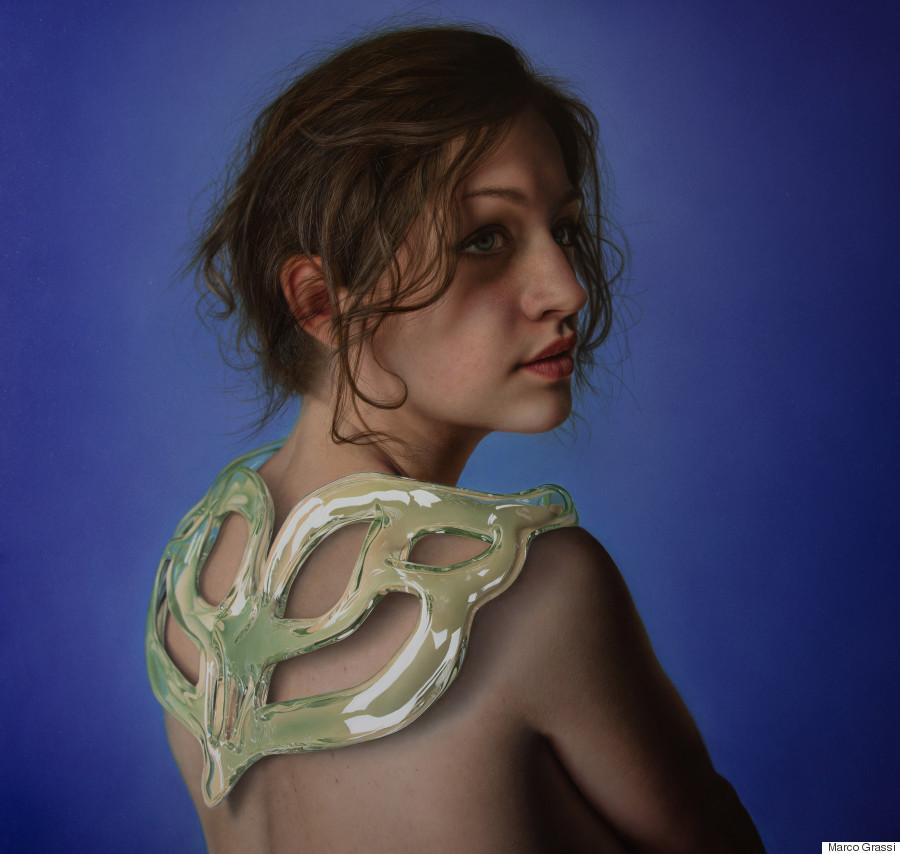 Marco Grassi, acrilico, alchidico e olio su tela smaltata