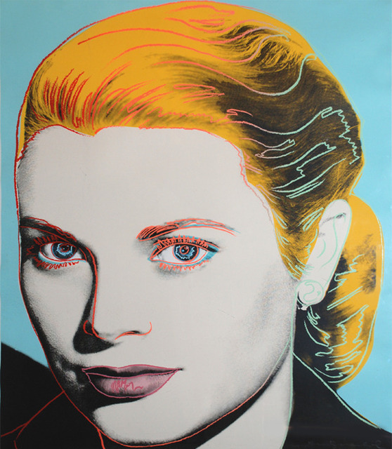 "Andy Warhol  Grace Kelly (II.305) , 1984 Puccio Fine Art- immagine a corredo dell'editoriale di Artsy ""Andy Warhol: A Mirror for his age"""