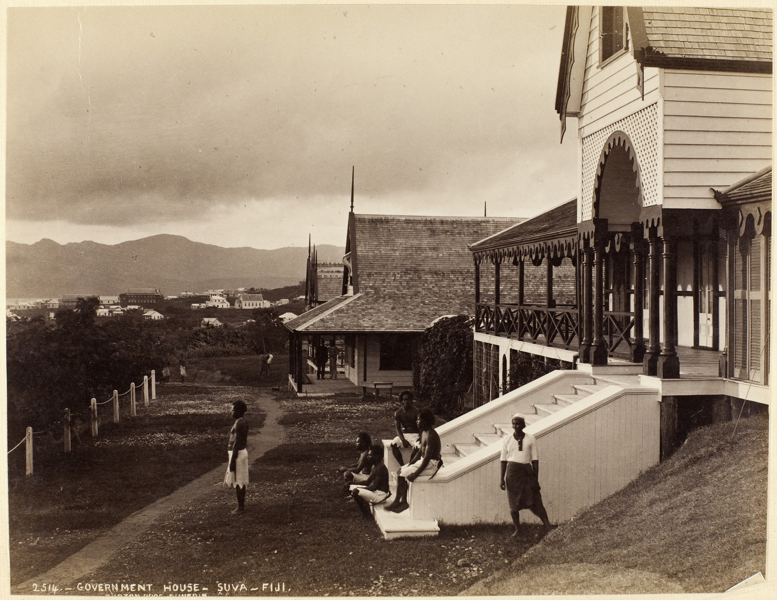 Museum of New Zealand: Gouvernment House- Suva- Fiji, Burton Brothers Studio, 1884
