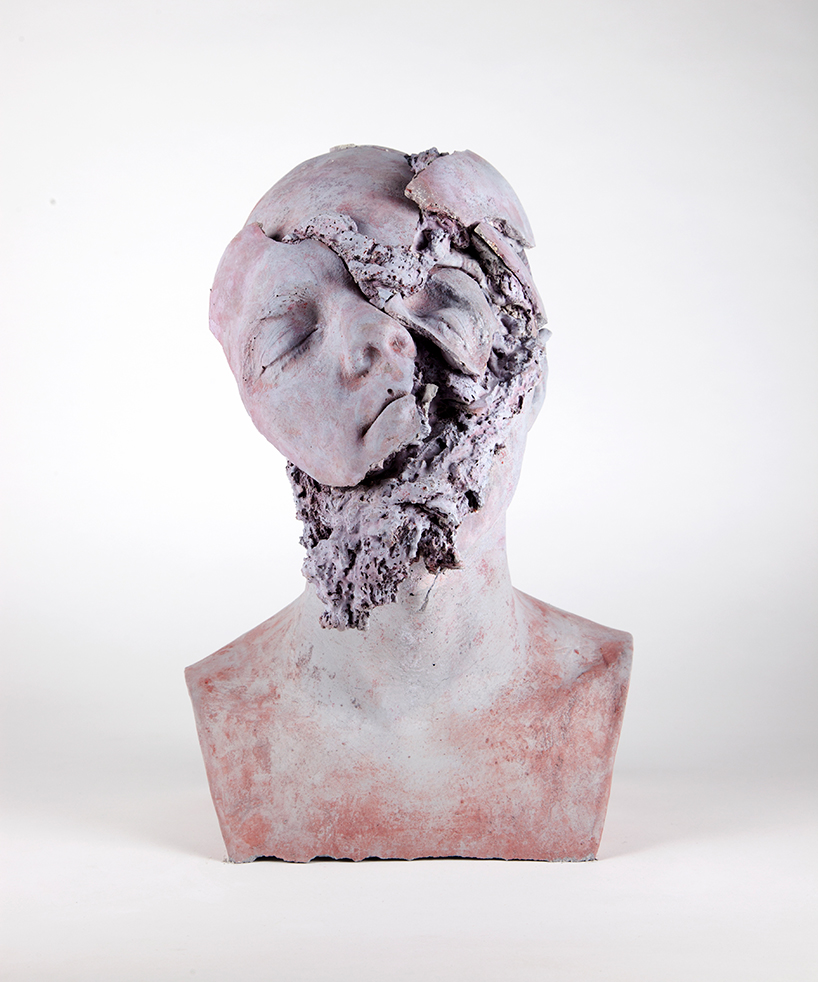 tim silver: untitled (oneirophrenia) #5', 2015pure white concrete, marble dust and pigment   38.5 x 24 x 26 cm