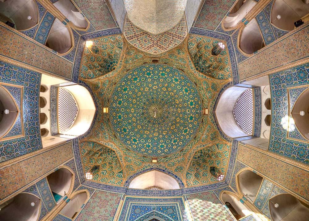 Ceiling of Jameh mosque, Yazd