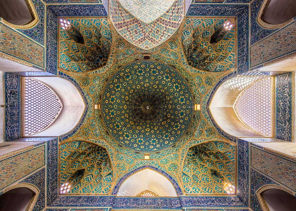 Ceiling of Jame-mosque-yazd