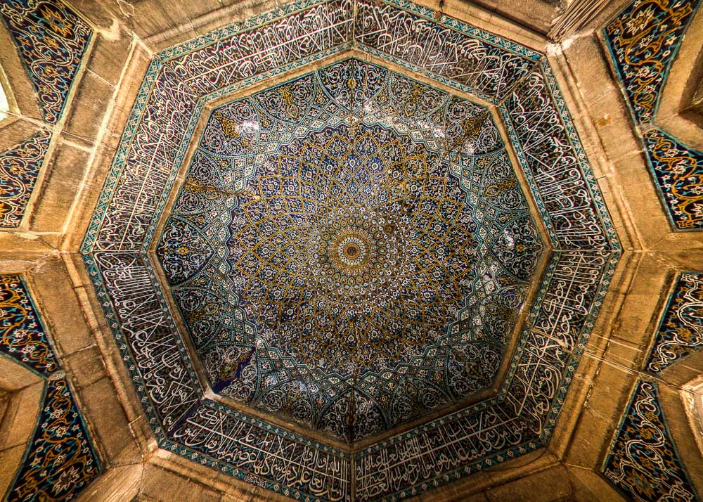 Ceiling of Madrese Khan- Isfahan