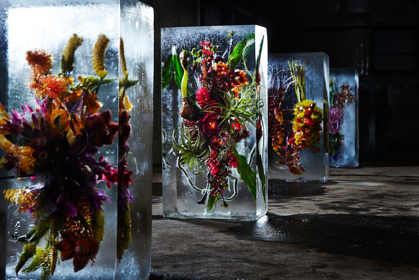 "Azuma Makoto, installazione ""Iced flowers"""
