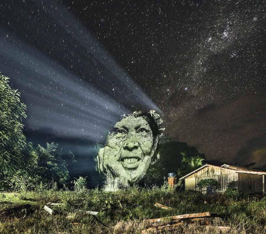 Philippe Echaroux, street art 2.0 in Amazzonia (photo courtesy Philippe Echaroux)