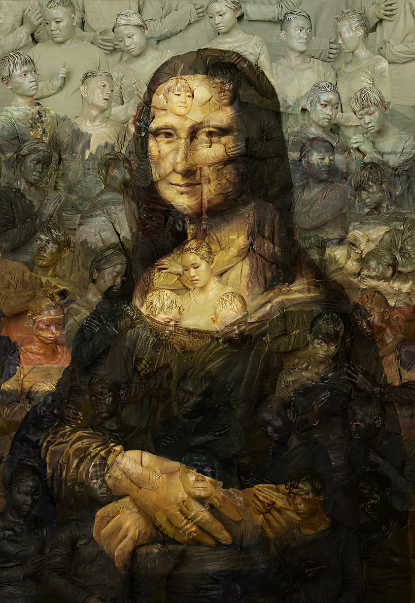 mona lisa, 2016 | archival pigment print | 78 3/4 x 54 1/4 inches (200 x 137.7 cm) edition of 8 + 2aps image courtesy klein sun gallery, © liu bolin