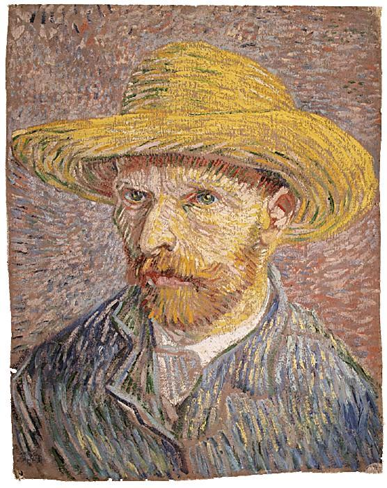 Vincent Van Gogh, Autoritratto con Cappello di Paglia (1877)