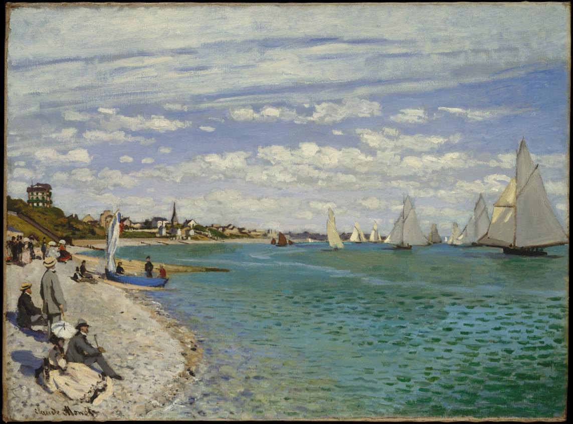 Claude Monet, Regatta at Sainte-Adresse, 1867, olio su tela