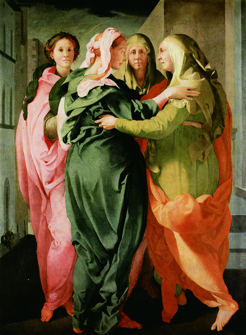 pontormo (jacopo carrucci; pontorme, empoli 1494-firenze 1557): visitazione 1528-1529 circa olio su tavola   cm 207 x 159,4 carmignano (PO), pieve di san michele