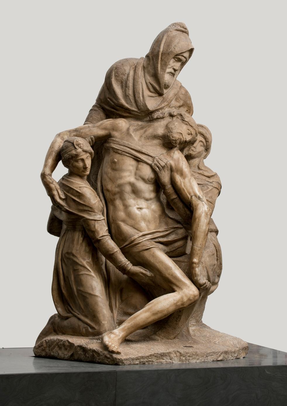 """""""pietà bandini"""", michelangelo buonarroti (vaprese? 1475-roma 1564) 1547-1555 circa  marmo, cm 226 x 138 x 125  firenze, museo dell'opera del Duomo, inv. 2005/289"""