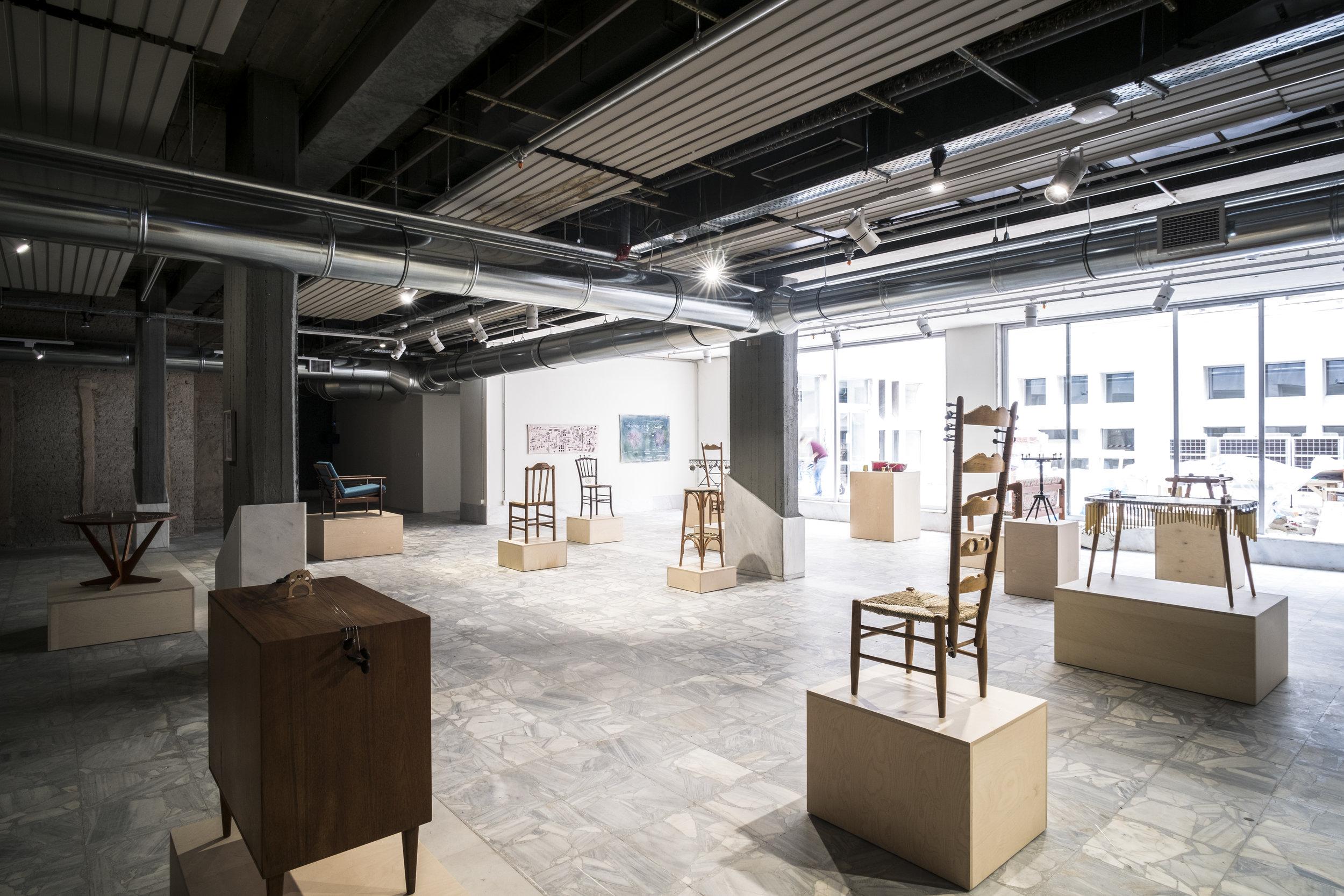 "Nevin Aladag, ""Music Room"", 2017, Documenta 14, Athens; ODEION © Mathias Voelzke"