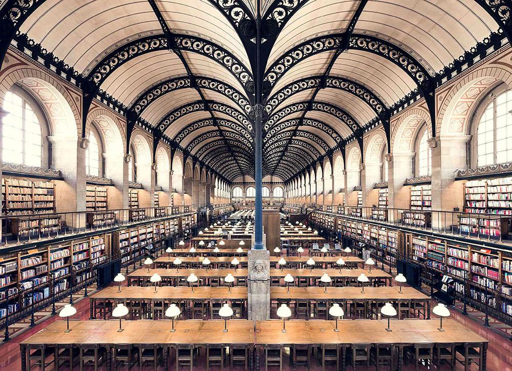 Bibliothèque Sainte-Geneviève, Parigi, 1850