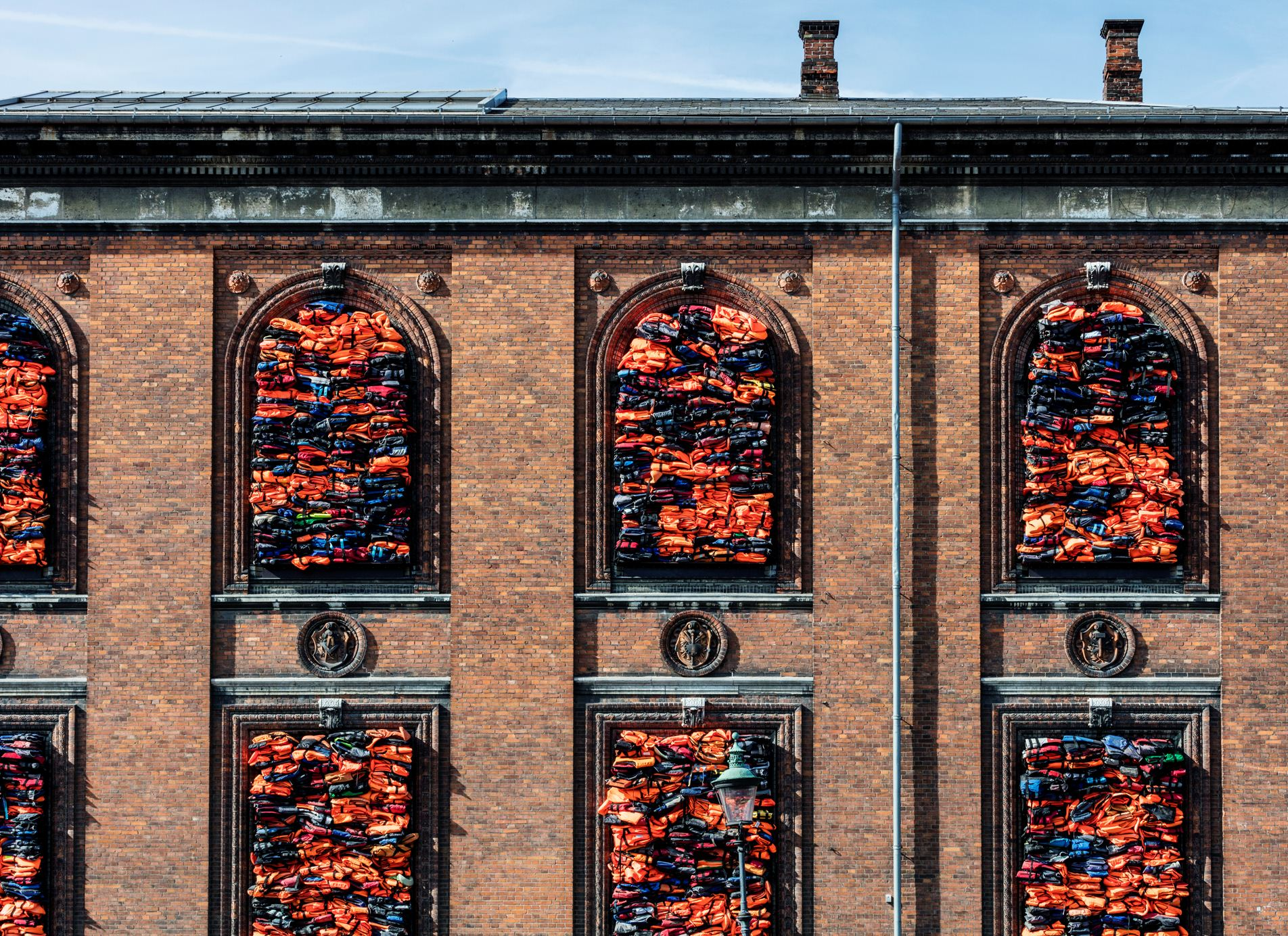 """Ai Weiwei, """"Soleil Levant"""", 2017. Installation view, Kunsthal Charlottenborg, 2017. Courtesy of the artist. Photo by Anders Sune Berg"""