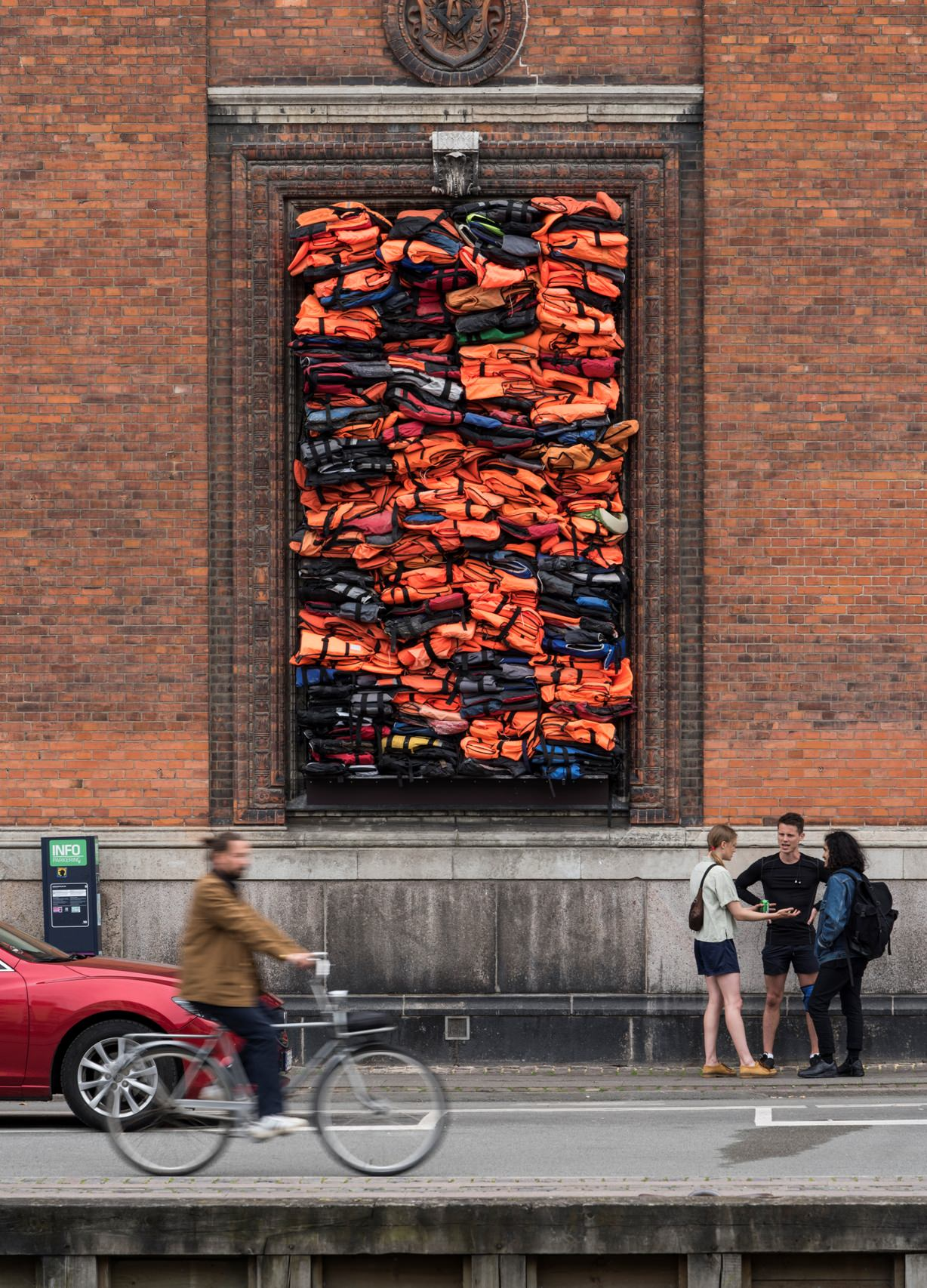 """Ai Weiwei, """"Soleil Levant"""", 2017. Installation view, Kunsthal Charlottenborg, 2017. Courtesy of the artist. Photo by David Stjernholm"""