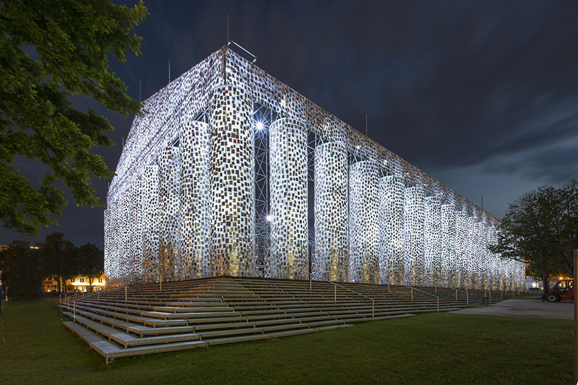 Marta Minujin, The Panthenon of books, Documenta 14, Kassel 2017, image © Roman Maerz