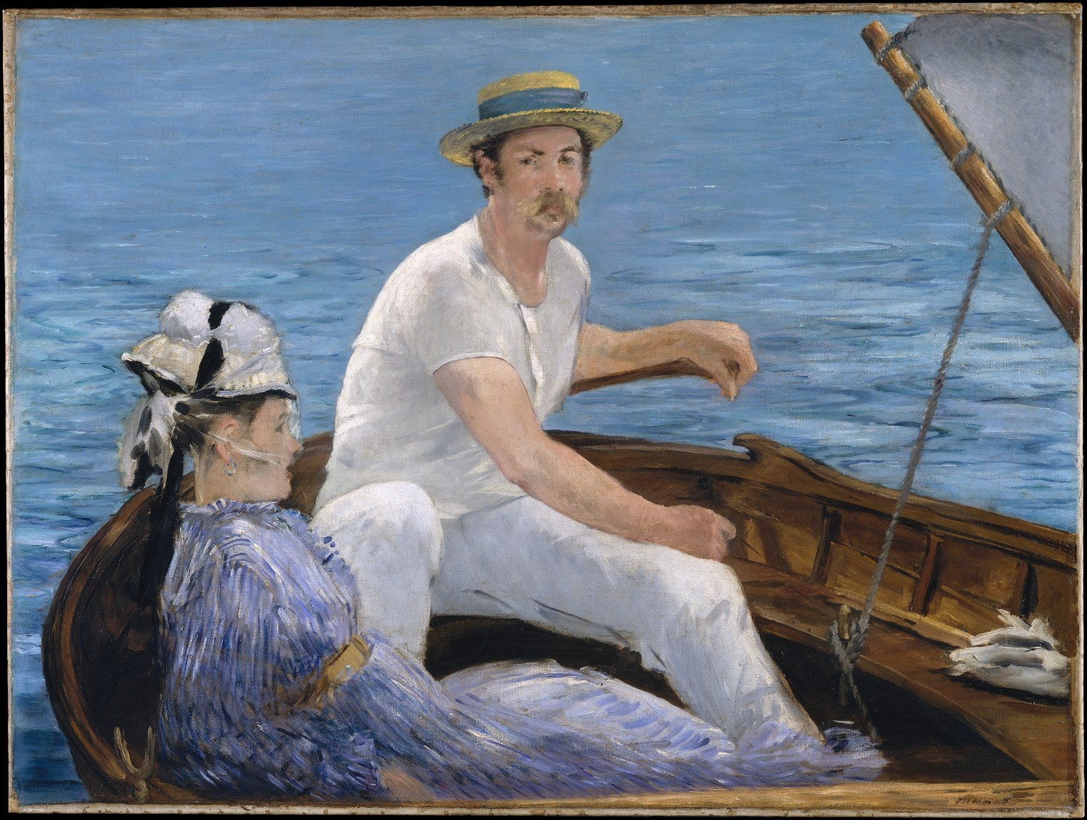 """"""" Masterpieces of European Painting, 1800-1920, in the Metropolitan Museum of Art """". Edouard Manet, """"In barca ad Argenteuil"""", 1874"""