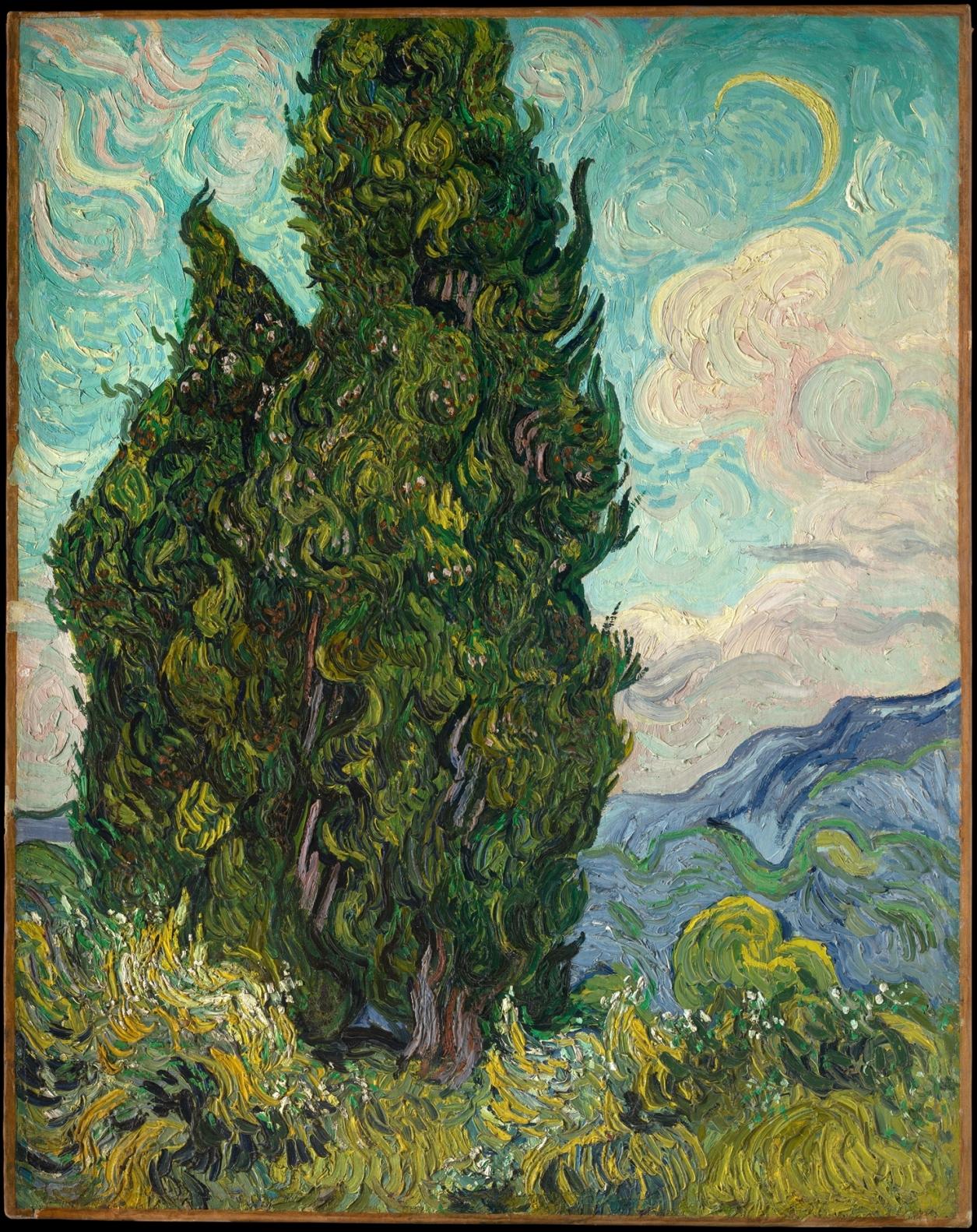 """ Masterpieces of The Metropolitan Museum of Art "". ""Cipressi"", Vincent van Gogh, 1889"