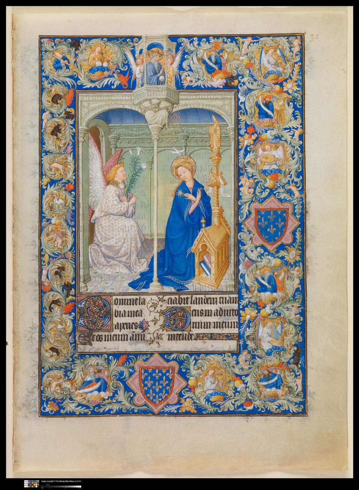 """ Medieval Art A Resource for Educators "". Fratelli Limbourg, ""The belles heures of Jean de france, Duc de Berry"", 1405-09 circa"